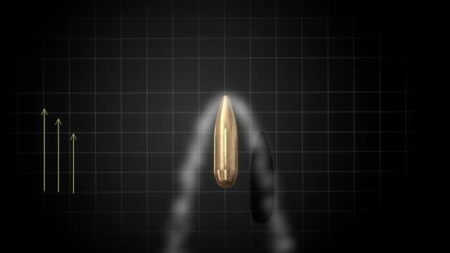 Gun bullet shot up analysis. video