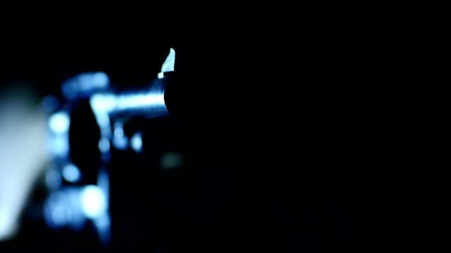 Gun Revolver Shoots Macro video