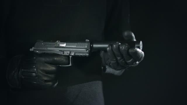 Gun with Supressor video
