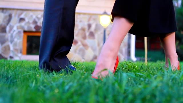 Guy with a girl dancing tango. video