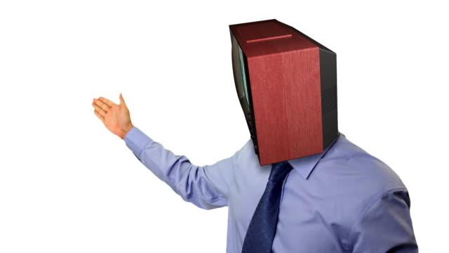 guy with tv head - 高清電視 影像的技術 個影片檔及 b 捲影像