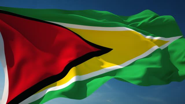 4 K Guyana Flagge-Endlos wiederholbar – Video