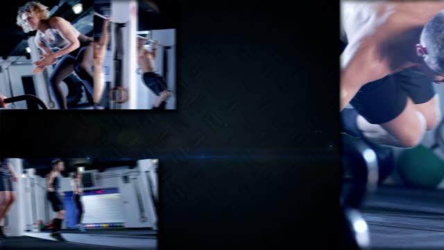 gym split screen video