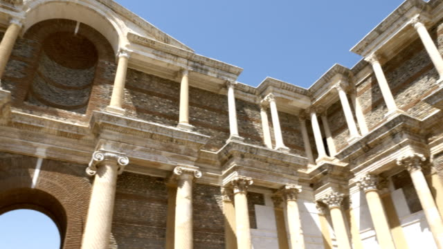 Gymnasium in Sardes ( Sardis ) ancient city in Manisa Turkey video