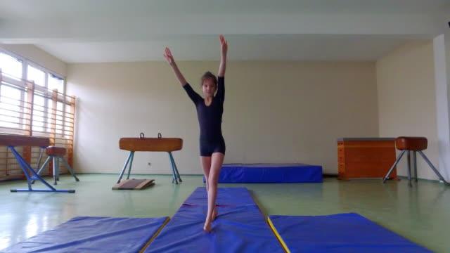 4k: gymnastics. - gymnastics stock videos and b-roll footage