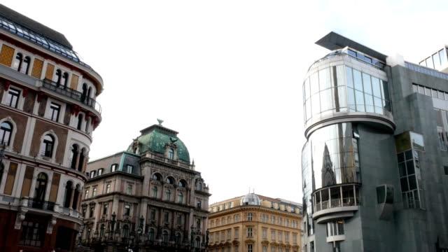 haas house, vienna austria 4k footage - post modern architecture stock videos & royalty-free footage