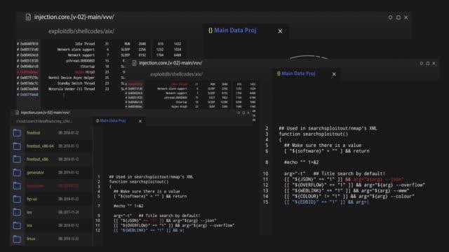 hacker attack loopable program code - web designer video stock e b–roll