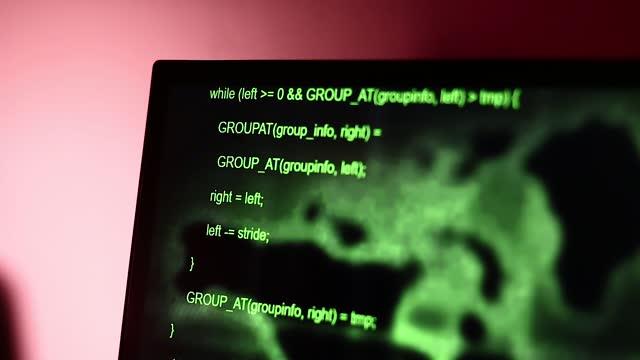Hacker Computer Codes Moving