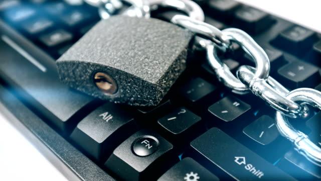 Hacker cyber attack protection, blockchain metaphor video