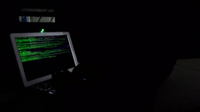 Hacker in server room