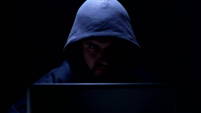 hacker preparing an attack in the dark - fraud stock videos & royalty-free footage