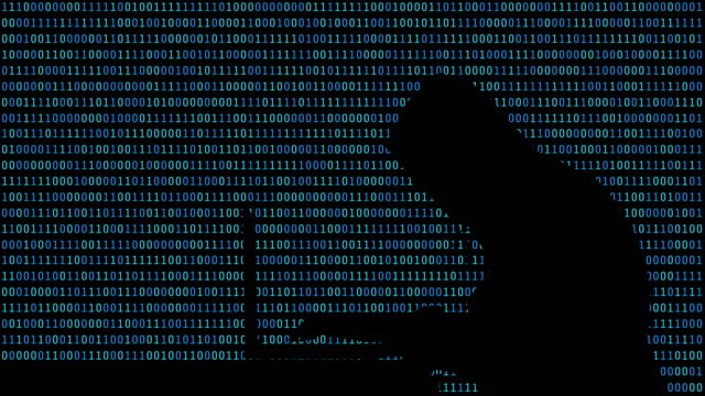 Hacker typing on a laptop with 01 or binary numbers on the computer screen on monitor background matrix, Digital data code in security technology concept. Human shape abstract illustration Hacker typing on a laptop with 01 or binary numbers on the computer screen on monitor background matrix, Digital data code in security technology concept. Human shape abstract illustration identity theft stock videos & royalty-free footage