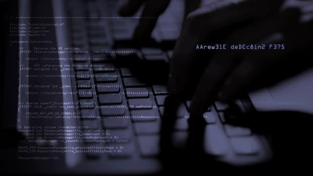 hacker typing on Laptop video