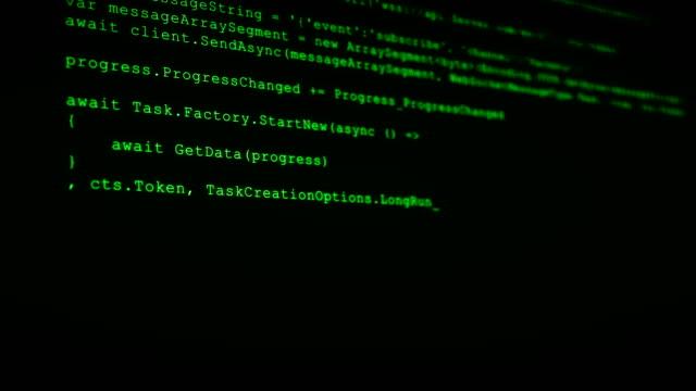 vídeos de stock e filmes b-roll de 3d hacking code data flow stream on green. screen with typing coding symbols - vírus informático