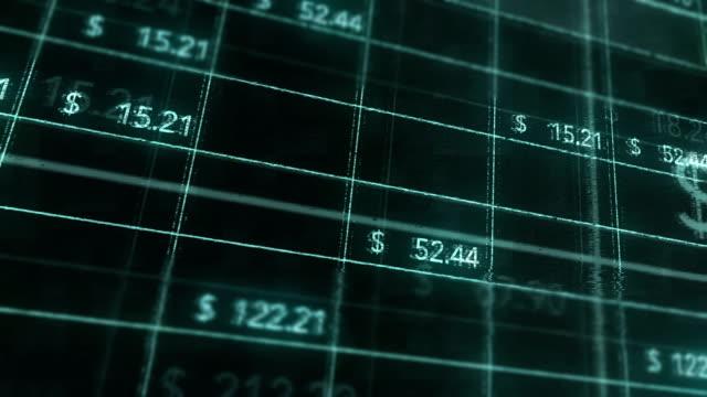 hacking into an online business excel money sheet through internet - credit card filmów i materiałów b-roll