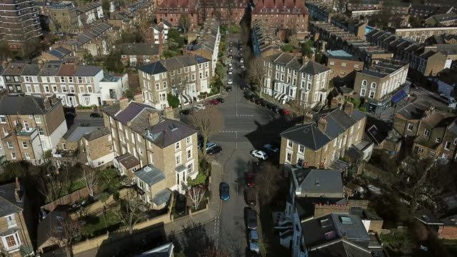 Hackney aerial view Bird's eye view of Hackney, London house aerial stock videos & royalty-free footage