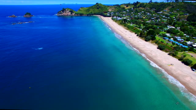 Hahei Bay Aerial View video