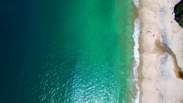 hahei bay aerial view - penisola video stock e b–roll