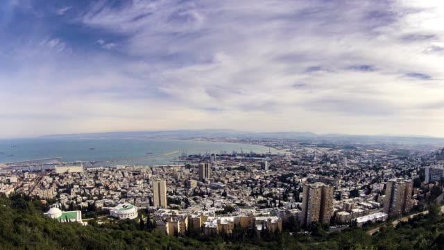 Haifa Israel top view time lapse video