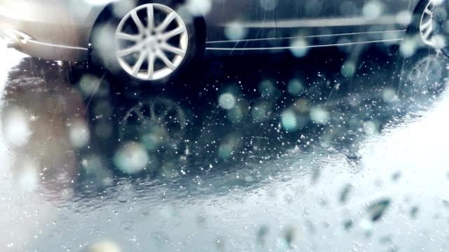 Hail falls. video