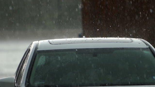 hail shower - grandine video stock e b–roll