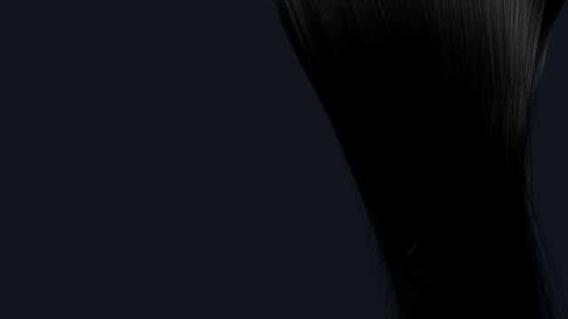 stockvideo's en b-roll-footage met hair blowing black animation - curly brown hair