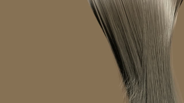 hair blowing blonde animation video