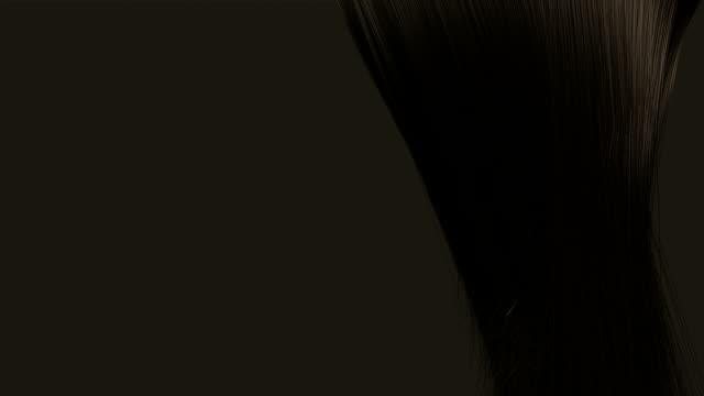 stockvideo's en b-roll-footage met hair blowing brown animation - curly brown hair