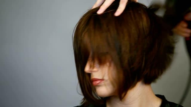 hair blowout HD video