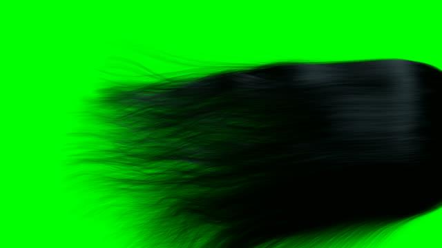 saç render animasyon siyah gs - peruk stok videoları ve detay görüntü çekimi