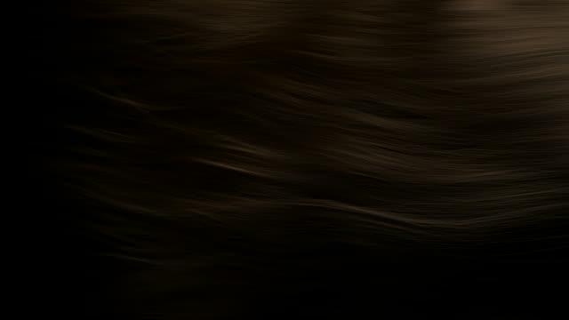Hair render slow mo brown video