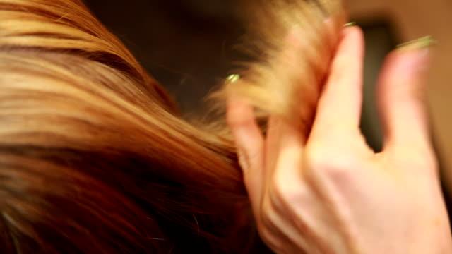 Haircut technique closeup video
