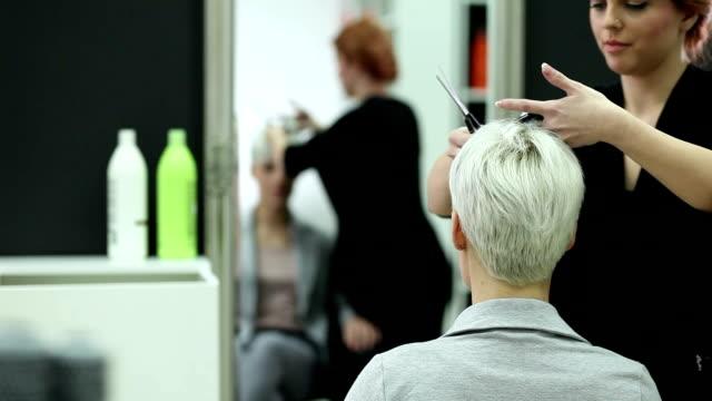redukcję wartości - hairdresser filmów i materiałów b-roll