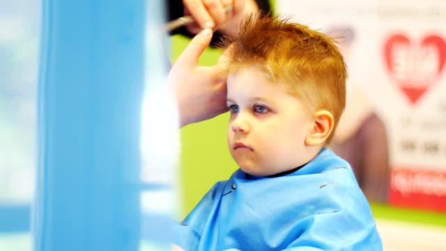 Royalty Free Boy Cutting Hair Hd Video 4k Stock Footage B Roll