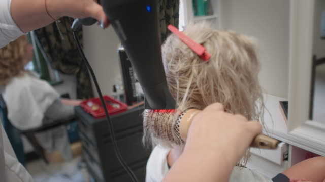 hairdresser drying - bleach stock videos & royalty-free footage