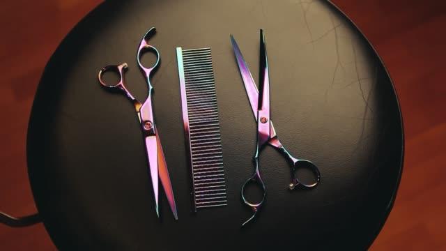 hairstyle tools scissors studio video