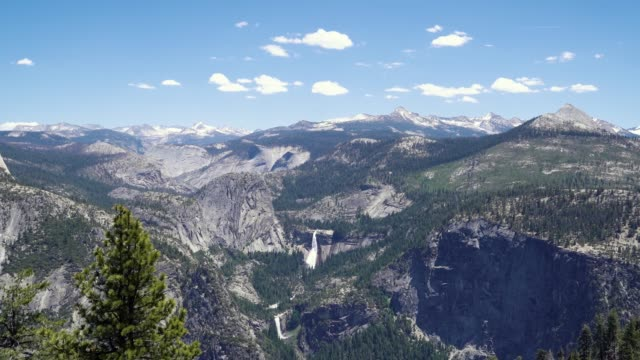 Half Dome view of Vernal Fall and Nevada Falls