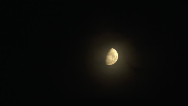 half moon with crater - полумесяц форма предмета стоковые видео и кадры b-roll