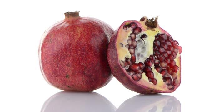 Half pomegranate fruit video