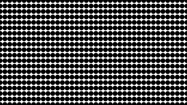 vídeos de stock e filmes b-roll de half tone of many dots, computer generated abstract background, 3d render backdrop with optical illusion effect - sarapintado