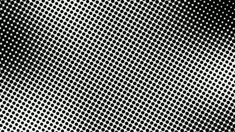 mezzo tono di molti punti, sfondo astratto generato al computer, sfondo di rendering 3d con effetto illusione ottica - collina video stock e b–roll