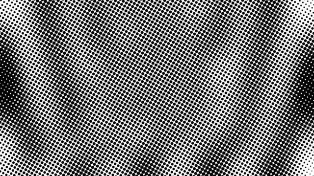 stockvideo's en b-roll-footage met halve toon van vele punten, computer gegenereerde abstracte achtergrond, 3d render achtergrond met optische illusie effect - halftint