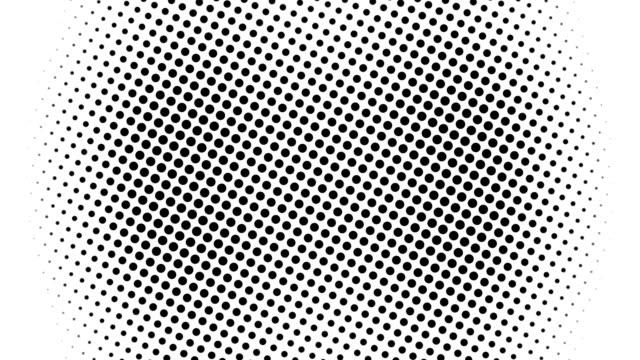 vídeos y material grabado en eventos de stock de medio tono de muchos puntos, fondo abstracto generado por ordenador, telón de fondo de renderizado 3d con efecto de ilusión óptica - lunares