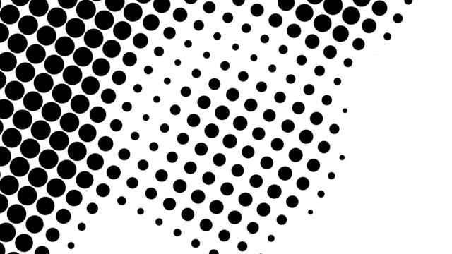 stockvideo's en b-roll-footage met halve toon van vele punten, computer geproduceerde abstracte achtergrond, 3d terugtonopde met optisch illusieeffect - halftint