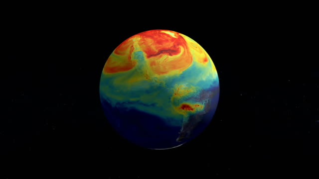half year of the life of earth co2. from january to june. nasa public domain imagery - clima video stock e b–roll