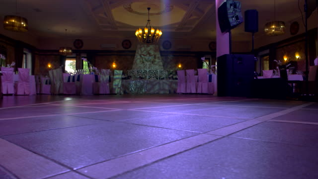 Hall with chairs and tables. video