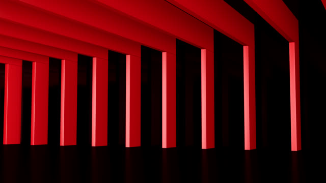Hall with red Beams video