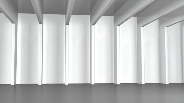 Hall with white Beams video