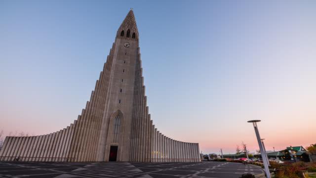 Hallgrimskirkja cathedral in reykjavik iceland video
