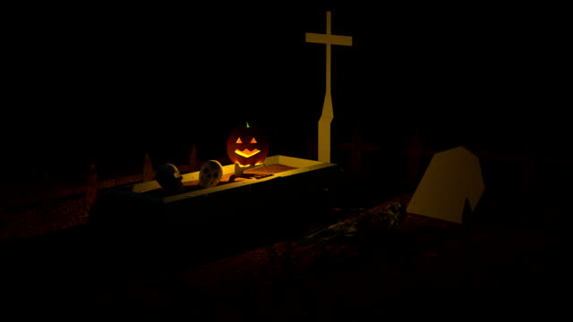 Halloween and Cemetery video